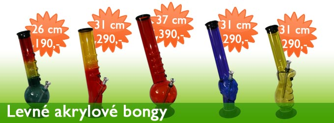 Bongy z akrylu za super cenu